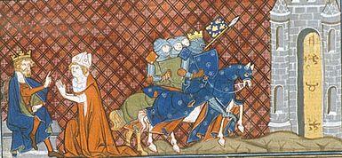Siege de clermont par les troupes francaises louis vi le gros recoit l hommage de l eveque aimeric